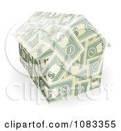 Clipart 3d House Made Of Dollar Bills Royalty Free Vector Illustration