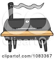 Clipart Barrel Barbecue Smoker Royalty Free Vector Illustration by LaffToon #COLLC1083367-0065