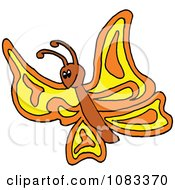 Clipart Yellow And Orange Butterfly Royalty Free Vector Illustration