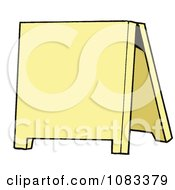 Clipart Blank Yellow Sidewalk Sign Royalty Free Vector Illustration