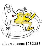 Slipping Banana Falling Backwards