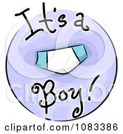 Clipart Its A Boy Baby Icon Royalty Free Vector Illustration by BNP Design Studio