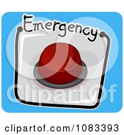 Clipart Emergency Push Button Icon Royalty Free Vector Illustration