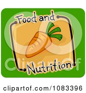 Clipart Nutrition Carrot Icon Royalty Free Vector Illustration