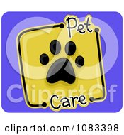 Clipart Pet Care Paw Print Icon Royalty Free Vector Illustration