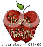 Clipart Health Is Wealth Apple Icon Royalty Free Vector Illustration
