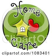 Clipart Home Care Icon Royalty Free Vector Illustration