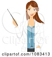 Clipart Doctor Giving A Presentation Royalty Free Vector Illustration