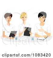 Clipart Nurses In A Meeting Royalty Free Vector Illustration