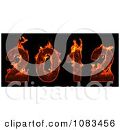 Clipart 3d Red Fiery 2012 New Year Royalty Free CGI Illustration