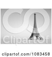 3d White Eiffel Tower On Gray