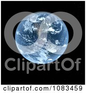 Clipart 3d Planet Earth Over Black Royalty Free CGI Illustration