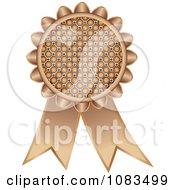 Clipart Bronze Medal Award Ribbon Royalty Free Vector Illustration