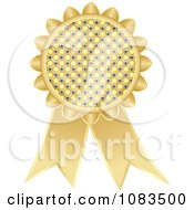 Clipart Gold Medal Award Ribbon Royalty Free Vector Illustration by Andrei Marincas