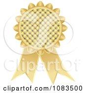 Clipart Gold Medal Award Ribbon Royalty Free Vector Illustration