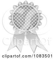Clipart Silver Medal Award Ribbon Royalty Free Vector Illustration