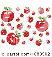 Clipart Background Of Juicey Red Apples Royalty Free Vector Illustration by Andrei Marincas