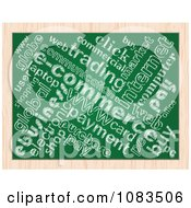 Clipart Commerce Word Collage Chalkboard Drawing Royalty Free Vector Illustration