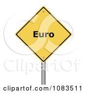 Clipart 3d Euro Yellow Warning Sign Royalty Free CGI Illustration