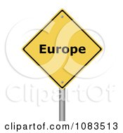 Clipart 3d Europe Yellow Warning Sign Royalty Free CGI Illustration