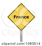 Clipart 3d France Yellow Warning Sign Royalty Free CGI Illustration