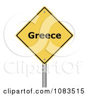 Clipart 3d Greece Yellow Warning Sign Royalty Free CGI Illustration