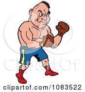 Clipart Strong Caucasian Male Boxer Royalty Free Vector Illustration by LaffToon