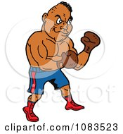 Clipart Strong Hispanic Male Boxer Royalty Free Vector Illustration by LaffToon