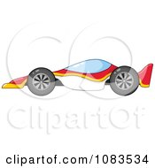 Clipart Red Yellow And White Race Car Royalty Free Vector Illustration