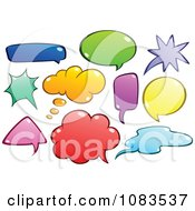 Clipart Colorful Chat Bubbles Royalty Free Vector Illustration by yayayoyo