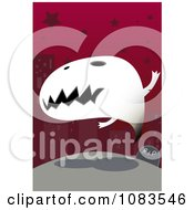 Clipart Ghost Rising Over Its Grave Royalty Free Vector Illustration by mayawizard101