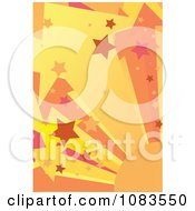 Background Of Orange And Pink Star Bursts