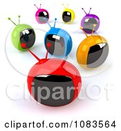 Clipart 3d Colorful Retro Box TVs Royalty Free CGI Illustration by Julos