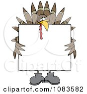 Turkey Holding A Thanksgiving Sign
