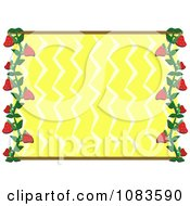Clipart Yellow Zig Zag Frame With Strawberries Royalty Free Vector Illustration by bpearth
