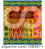 Clipart Tribal Design Element Borders 1 Royalty Free Vector Illustration