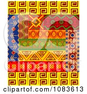 Clipart Tribal Design Element Borders 4 Royalty Free Vector Illustration