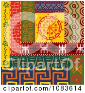Clipart Tribal Design Element Borders 5 Royalty Free Vector Illustration