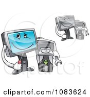 Clipart Computer Repair Technician Characters Royalty Free Vector Illustration