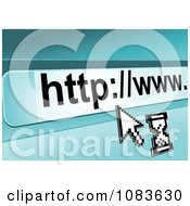 Clipart Computer Cursor And Internet URL Royalty Free Vector Illustration by Vector Tradition SM
