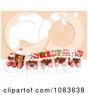 Clipart Gingerbread Christmas Train With Steam Clouds Royalty Free Vector Illustration