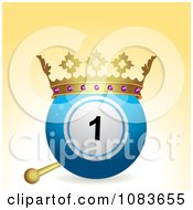 Clipart 3d Crowned Bingo Or Lottery Ball Royalty Free Vector Illustration by elaineitalia