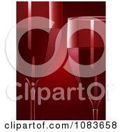 Clipart Two 3d Glasses Of Red Wine On Red Royalty Free Vector Illustration by elaineitalia