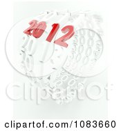 Clipart 3d Red 2012 Year In A Circle Of White Years Royalty Free CGI Illustration