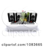 Clipart 3d Tortoise Dj Mixing Music At A Christmas Party Royalty Free CGI Illustration by KJ Pargeter