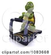 Clipart 3d Tortoise Exercising On A Gym Treadmill Royalty Free CGI Illustration by KJ Pargeter