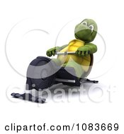 Clipart 3d Tortoise Exercising On A Gym Row Machine Royalty Free CGI Illustration