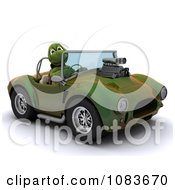Clipart 3d Tortoise Driving A Convertible Hot Rod Royalty Free CGI Illustration by KJ Pargeter