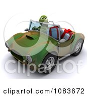 Clipart 3d Tortoise Driving With Christmas Gifts In A Convertible Hot Rod Royalty Free CGI Illustration by KJ Pargeter