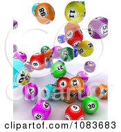 Clipart 3d Falling Colorful Bingo Balls Royalty Free CGI Illustration by KJ Pargeter